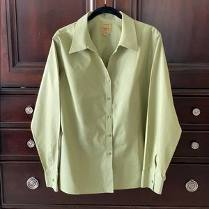 INVESTMENTS NO-Iron 20W Apple Green Blouse Shirt